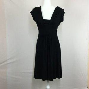 Banana Republic Sleeveless Midi Dress Size S Black